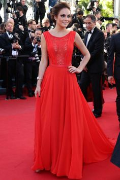 The 66th Cannes Film Festival 2013 Red Carpet, Ximena Navarrete at the 'Zulu' Premiere. I love this red dress!