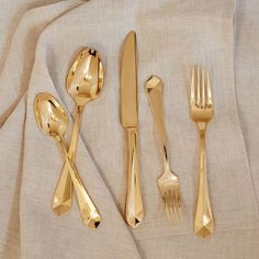 Image result for gold flatware