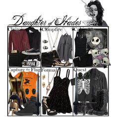 """""""Daughter of Hades ~ Wardrobe"""" by liesle on Polyvore"""