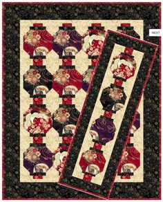 Lanterns Quilt Pattern by Quilt Woman by SwatchesFabrics on Etsy