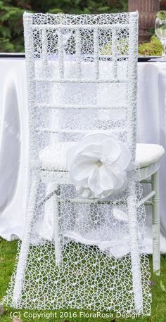 Dress up your chairs with this beautiful white net cover. These chair covers are suitable for dressing Chiavari chairs. Please contact for quote when ordering more than 30 items. Wedding Reception Chairs, Wedding Chair Sashes, Wedding Chair Decorations, Wedding Table Flowers, Chiavari Chairs, Lace Weddings, Chair Covers, Etsy, Club Chairs
