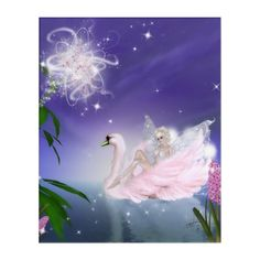 Pink Swan on the Fairy Pond Acrylic Print - tap, personalize, buy right now! Live Moving Wallpaper, Moving Wallpapers, Fantasy Gifts, White Wings, Acrylic Wall Art, Woodland Creatures, Faeries, Swan, Pond
