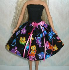 Hechos a mano ropa de Barbie  tu elección  elige 1  Black o