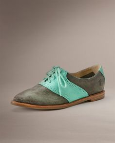 Delia Saddle - Women's Shoes - New Arrivals - The Frye Company - What a fabulous pair of shoes for the weekend!