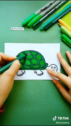 #drawing #draw #craft #art #animal #turtle #creative #amazing #artist #diy Cool Paper Crafts, Paper Flowers Craft, Paper Crafts Origami, Origami Art, Fun Crafts, Diy Crafts Hacks, Diy Crafts For Gifts, Diy Home Crafts, Diy Arts And Crafts