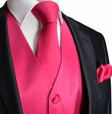 black tuxedo with black vest hot pink bow - Google Search