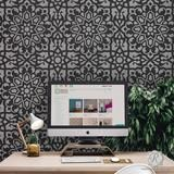 Learn how to paint and stencil walls, furniture, and floors with video! These DIY projects are easy! Damask Wall Stencils, Moroccan Wall Stencils, Stencil Wall Art, Wall Stencil Patterns, Stencil Fabric, Stencil Diy, Furniture Redo, Painted Furniture, Bedroom Designs