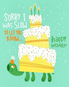 Another belated Birthday card. Happy Birthday Clip Art, Belated Birthday Wishes, Birthday Clips, Happy Birthday Quotes For Friends, Birthday Wishes For Friend, Late Birthday, Birthday Messages, Birthday Images, Birthday Greeting Cards
