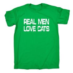 123t USA Men's Real Men Love Cats Funny T-Shirt