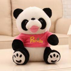 Cartoon 3D panda plush toys for kids cute animal plush doll