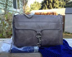 NWT Rebecca Minkoff MAC Daddy OS Clutch Charcoal Grey Gray Silver HW New Style