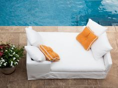 Perfect piece for next to the pool, #clean #classic #sofa #leeindustries