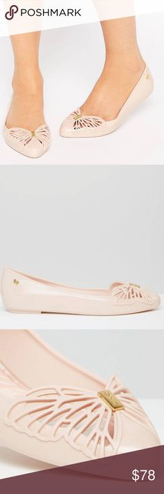 54b8e496c4 Zaxy Nude Free Point Flats Size 9 Cute cut-out butterfly detail! NWT