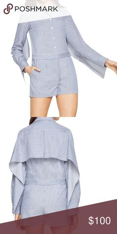 Brand new bcbg max striped romper size small It is brand new with tags. I will take best offer but pretty price is firm. However just make an offer and let see what i can do. I can lower the price when purchase to make the shipping a little cheaper for buyers. BCBGMaxAzria Other