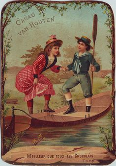 ♥cacao van houten boy helping girl into rowing boat by patrick.marks