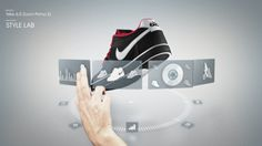 gestural interactions / explanation of development for nike teaser trailer  Nike6 idNation Teaser by Gridplane