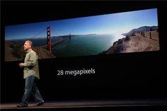 28 MPIXELS!!! PANORAMA!!!!  CNET's Apple event live blog (Wednesday, September 12) | CNET