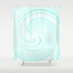 Blueberry Sundae Swirl - Pattern Shower Curtain