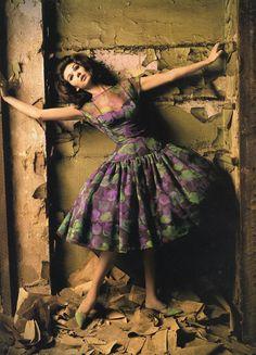 Simone D'Aillencourt by Melvin Sokolsky, Harper's Bazaar 1960