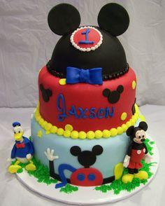 Mickey Mouse themed birthday cake...all fondant