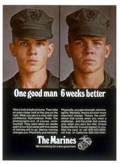 One Good Man, 6 Weeks Better by United States Marine Corps Official Page Military Quotes, Military Humor, Military Love, Usmc Quotes, Quotes Quotes, Military Brat, Military Uniforms, Once A Marine, Marine Mom
