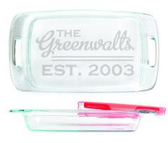 Baking Dish - Line Design personalized with Est. date