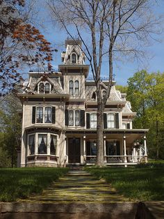 "81 West Main Street, Mt. Kisco, New York, USA. Used as the exterior from the movie ""Ragtime"". Also known as the Samantha Parkington house from the books ""American Girls""."