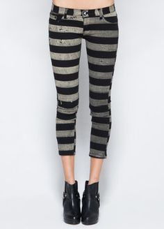 One Teaspoon Gambler Iggys  women new Pants.  Dont know if i can get away w the stripes but love them