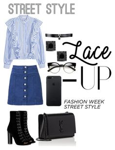 """""""Untitled #128"""" by iamliviya on Polyvore featuring Witchery, Barbara Bui, Yves Saint Laurent and Fallon"""