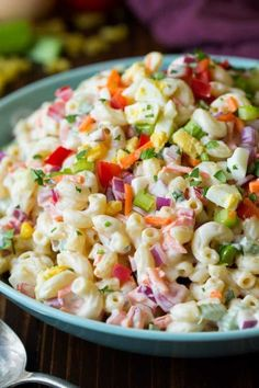 Take a look at these yummy Summer Salad Recipes. 15 of the best easy summer salads for you to try this summer. Summer salads are light and tasty. Try one of these summer salads for Mother's day! #summersalads #recipes #summerrecipes #onecrazymom #macaronisalad #pastasalad