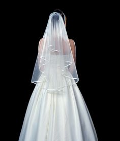 Wedding Veil Elbow Length 2 Tier with Comb, White or Ivory | Sova Bridal
