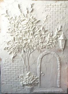 Custom original large abstract textured sculpture painting dedicated to you – Artofit Clay Wall Art, 3d Wall Art, Tree Wall Art, Wooden Wall Art, Mural Art, Photo Wall Art, Wall Art Decor, Plaster Crafts, Plaster Art