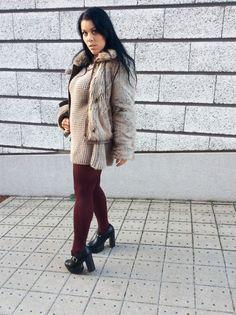 Strick Mini Kleid (Sexy Ladys World of Fashion) World Of Fashion, Mini, Faux Fur, Street Style, Vintage, Sexy, Sweaters, Dresses, Jackets
