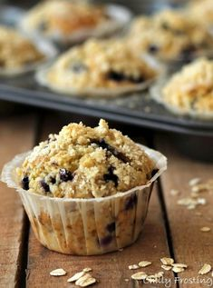 Oatmeal Blueberry Muffins   Community Post: 10 Oatmeal Recipes That Don't Include Raisins
