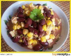 Fazolový salát s kukuřicí Fruit Salad, Food, Red Peppers, Fruit Salads, Essen, Meals, Yemek, Eten