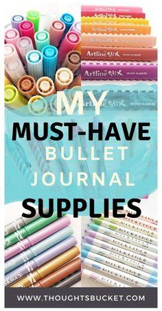 Bullet Journal Markers, Pens For Bullet Journaling, Bullet Journal Essentials, How To Bullet Journal, Bullet Journal Stencils, Bullet Journal For Beginners, Bullet Journal Writing, Bullet Journal Spread, Bullet Journal Layout