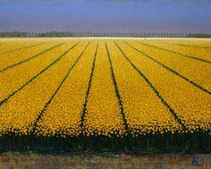 Ton Dubbeldam Abstract Landscape Painting, Landscape Paintings, American Impressionism, Dutch Painters, Sea Art, Felder, French Countryside, Dutch Artists, Acrylic Art