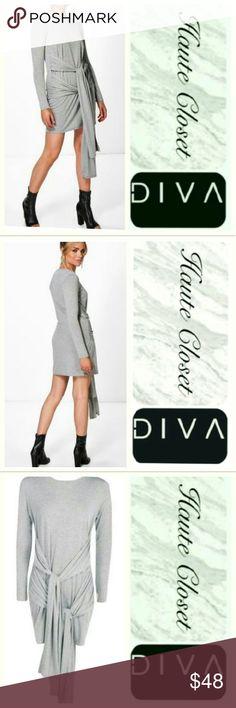 Double Tie Dress Super cute casual dress: double waist wrap. Cotton poly blend, stretch fit; New Dresses Midi