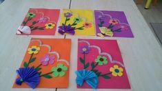 Gelişim raporlarımız Easy Crafts, Diy And Crafts, Arts And Crafts, Paper Crafts, Mothers Day Crafts, Easter Crafts For Kids, Art Drawings For Kids, Art For Kids, Folder Decorado