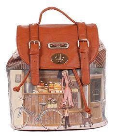 Look at this #zulilyfind! Patisserie Gitana Vintage Backpack Handbag by Nicole Lee #zulilyfinds