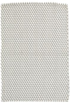 Two-Tone Rope White Indoor/Outdoor Area Rug