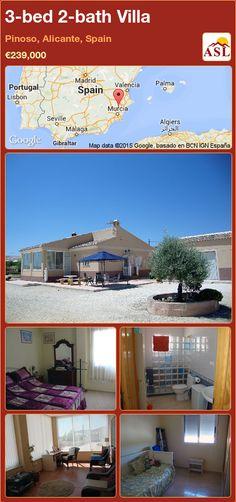 3-bed 2-bath Villa in Pinoso, Alicante, Spain ►€239,000 #PropertyForSaleInSpain