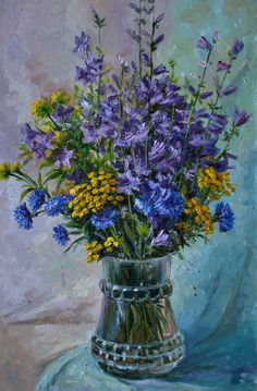 Oil Canvas, Van Gogh, Bouquet, Palette, Pastel, Artwork, Painting, Flowers, Cake