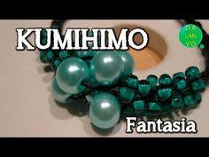 Pulsera kumihimo redondo con perlas centrales - YouTube Seed Bead Jewelry, Beaded Jewelry, Seed Beads, Beaded Bracelets, Necklaces, Jewellery, Crochet Videos, Crafts To Make, Bead Art