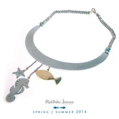 Seahorse. Fish. Starfish. Necklace. Spring Summer 2014. Riddhika Jesrani Jewelry.  #necklace #ShinyThings #Bling