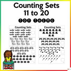 These worksheets are designed to give children practice counting, identifying, and writing the numbers 11-20. These worksheets also provide a motivational resource for teachers to send home as practice after school.The set is printer-friendly as all items are in black and white. The worksheets are i... Teacher Resources, School Resources, Classroom Resources, Classroom Organization, Classroom Management, Counting, School Stuff, Back To School, Worksheets