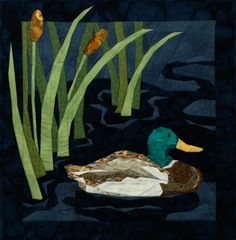 Mallard Duck Pieced Quilt Pattern by Cynthia England at England Design