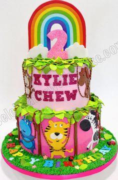 Celebrate with Cake!: Safari Themed 2 tier