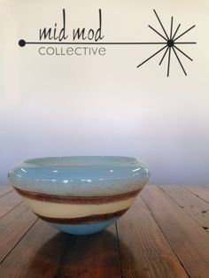 Murano Art glass bowl Available now at Mid Mod Collective. Email midmodcollective@gmail.com for more info.