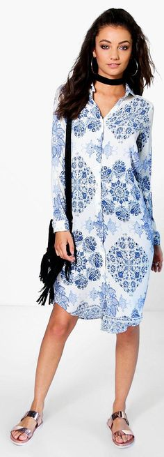 Tall Micha Paisley Print Woven Shirt Dress - Dresses  - Street Style, Fashion Looks And Outfit Ideas For Spring And Summer 2017